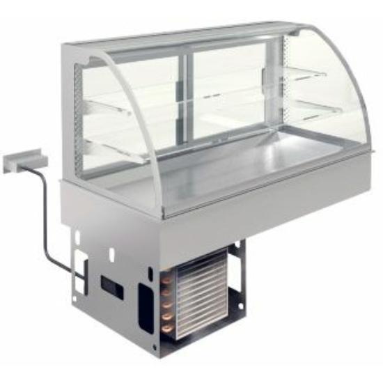 Ventillációs hűtésű beépíthető lap vitrinnel