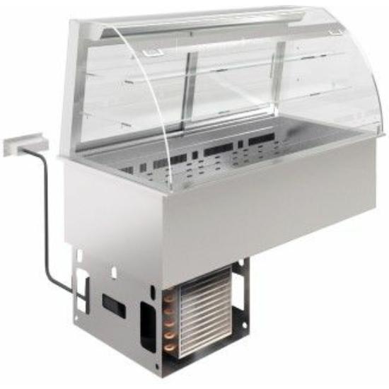 Ventillációs hűtésű beépíthető medence vitrinnel