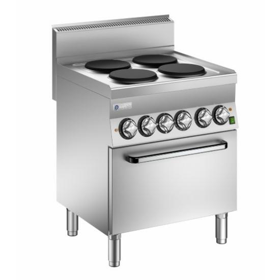 Rozsdamentes modul gáztűzhely sütővel