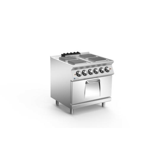 Rozsdamentes modul elektromos tűzhely sütővel