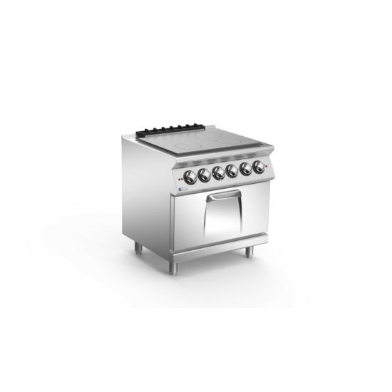Rozsdamentes modul szénacél lapos tűzhely sütővel