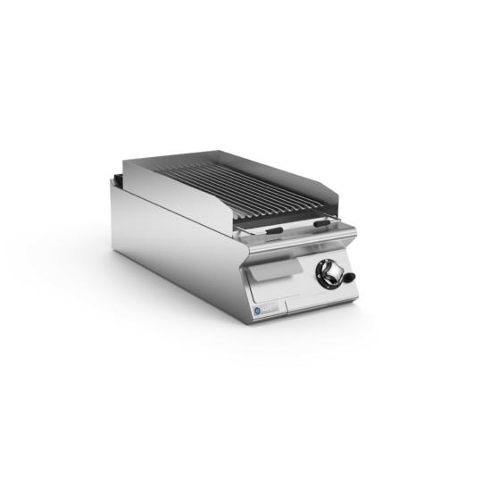 Rozsdamentes modul gázüzemű lávaköves grill felső elem
