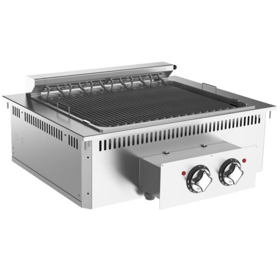 Rozsdamentes beépíthető elektromos grill