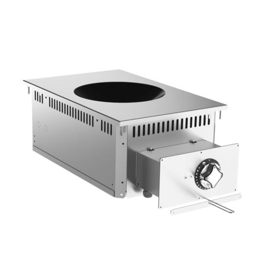 Rozsdamentes beépíthető indukciós wok főzőlap