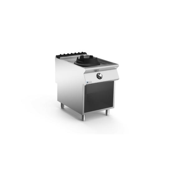 Rozsdamentes modul nyíltlángú  wok gáztűzhely