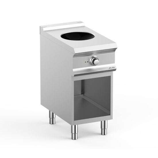 Egy zónás indukciós wok tűzhely, nyitott alsó szekrénnyel