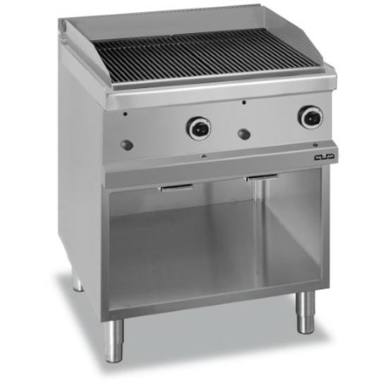 Rozsdamentes modul gázüzemű lávaköves grill