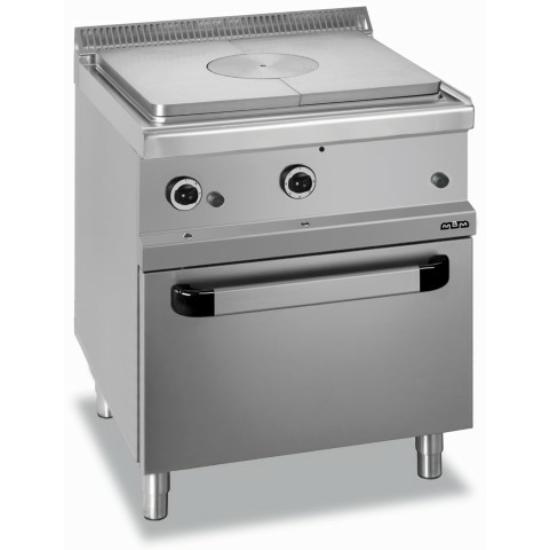 Rozsdamentes modul zártlángú gáztűzhely sütővel